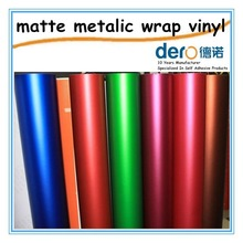 Dero Protective and Decorative Vinyl Car Sticker for Car Body, Matte Chrome Wrapping Film with Air Free Channels