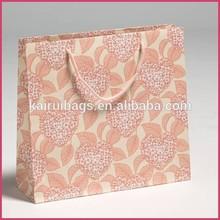 beautiful boutique cotton handle paper shopping bags