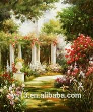 home decor Great artwork garden scenery oil painting YZ-12