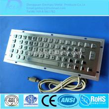 Customized 65 Keys Brushed IP65 Metal Keyboard/Kiosk Metal Keyboard