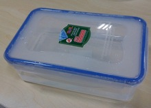 1100ml Clear airtight plastic storage food container with lock