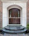 nice aparência de madeira maciça archie design da porta de entrada com vidro