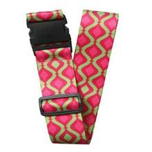 2015 free sample custom luggage strap/polyester luggage belt with lock/travel luggage bag belt