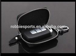 2015 High quality Leather car key bag Unique key wallets key case with Key chain