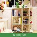 Plásticoimpermeável eco- amigável branco armazenamento prateleira de livros