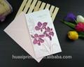 vuoto vendita calda biglietti di auguri e buste in diversi colori per auguri di compleanno ingrosso fiore in rilievo