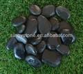 Décor naturel jardin pas cher polissage noir pebble pierre