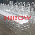 Crystal clear cadeira do casamento, resina cadeira de phoenix