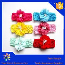 Trade assurance wholesale cute flower headband for kids