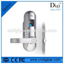 fireproof Anti Pick latch indoor fingerprint secure door lock 6600-98
