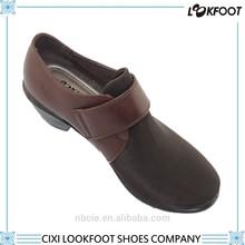 Winter designs mirofiber/suede leather light weight high heel dress shoes