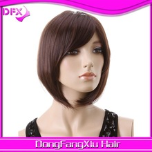 hot sale 2014 synthetic hair layer bangs bob straight synthetic wigs doll europe cosplay wigs