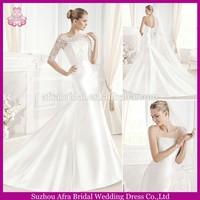 SD063 new arrival half sleeve 2 in1 wedding dress mermaid cheap indonesia wedding dress