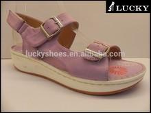 New 2015 buckle strap pu upper sandals for girls fancy design casual sandals flat sandals
