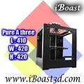 3d macchina di prototipazione rapida, di alta precisione grande costruzione dimensioni stampante 3d, 410*420*420mm( @a309)