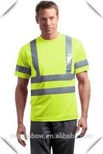 Men's Long / Short Sleeve Hi-Vis Reflective Safety T-Shirts Green / Orange Wholesale