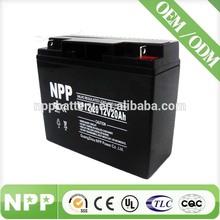 12V20AH Top Quality Sealed Lead Acid Battery for Off-grid Lighting