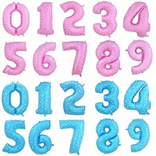 2015 wholesale foil number balloons