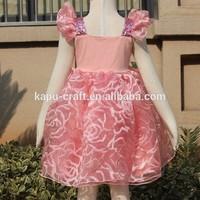 Fashion kids angel dress birthday dress for baby girl wholesale