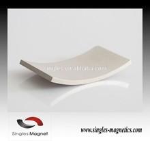 China Super permanent neodymium arc shaped magnet motors for sale