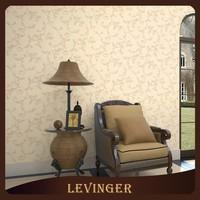 Levinger 3D PVC Decorative Economical Floral Wallpaper