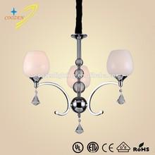 GZ20466-3P Zhongshan supplier modern glass chandelier Custom Stainless Steel Pendant