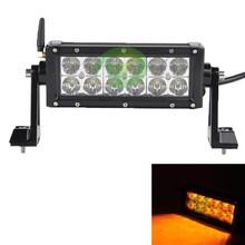 warming light 7.5'' yellow white led flashing light bar 36W wholesale led light bar