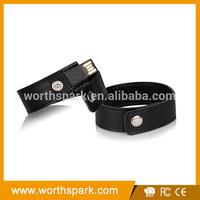 leather cheap usb flash drive bracelets with custom logo