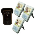 câmera 1 3 monitores de longo alcance sem fio de vídeo porteiro sistema para apartamentos
