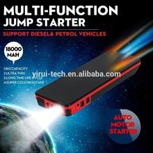 18000mAh 3 in 1 USB Interface, Glare LED Flashlight, 8 Laptop Adapters 12v Vehicle Jump Start Booster