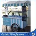 Móvil expendedora helado kiosco cesta en remolque