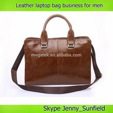 Vintage style Messenger bag man shoulder bag 15 inch pu leather laptop bag business