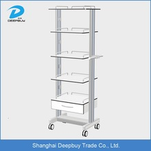 Office delivery mobile trolley with shelf Laminate