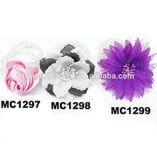 make pearl beaded elastic artificial flower bracelets