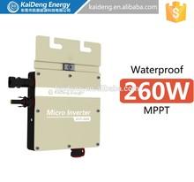 260w waterproof compatible micro solar inverter