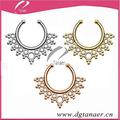 2015 vente chaude bijoux faux septum piercing nez indienne bague tribal septum piercing unique septum piercing