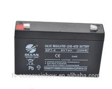 2015 Sealed lead acid battery 6v7.0ah China manufacturer