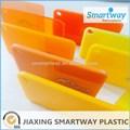 decorativos de color naranja de plástico hoja de acrílico