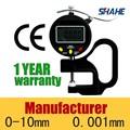 De alta resolución t0-10mm 0.001mm micron digital medidor de espesor de vidrio de espesor de metal de calibre grueso gauge#5318- 10
