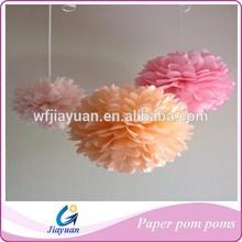 DiY Wedding Tissue Paper Pompons for Bridal Shower