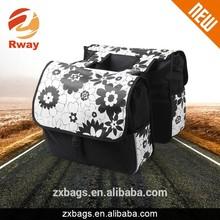 PVC flower printing hot sale bicycle bag