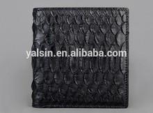 wnt9956 make men`s real exotic python snake skin leather wallet