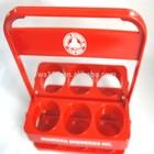 high quality red portable wine carrier with holder/ 6 pack beer bottle carrier/plastic wine bottle holder