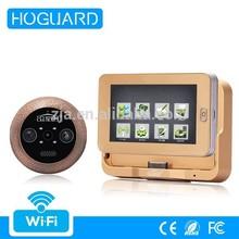 Android / IOS system smart wifi door viewer, hidden door wireless camera