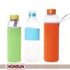 FDA eco-friendly clear borosilicate glass water bottle manufacturers