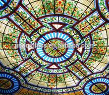 Decorative Art Glass for Dome