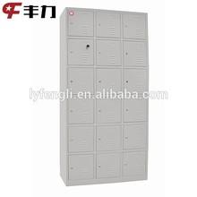 18 doors metal hallway shoe cabinet