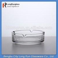 LongRun hotel accessories crystal glass round customer ashtray cigarettes glass ashtray