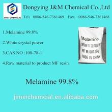 industrial grade melamine powder 99.8% for melamine formaldehyde resin and glue use