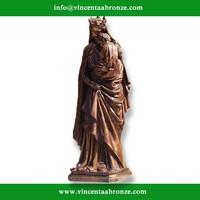 2015 hot sale home decor bronze statue virgin mary